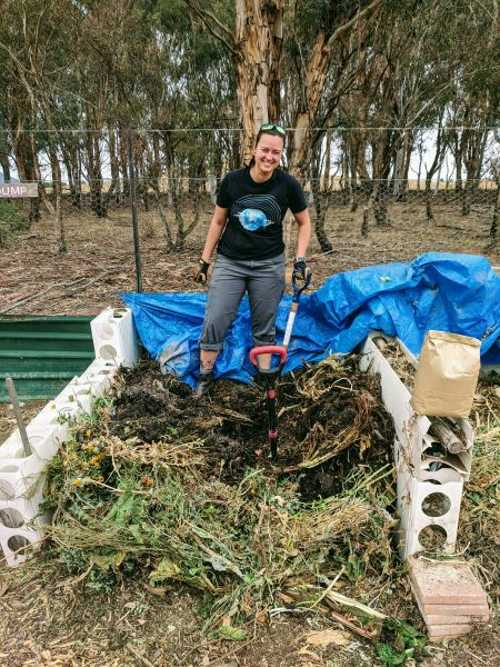 Great compost opportunities at Mitchell Community garden